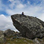 Rock Climbing Photo: Serenity on top of SFE.