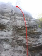 Rock Climbing Photo: Slab on right side of lower section