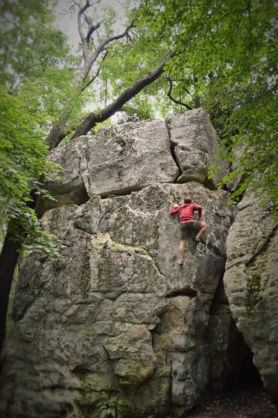 """Rock Climbing Photo: Jeremy Parnell cruising the beauty that is """"L..."""
