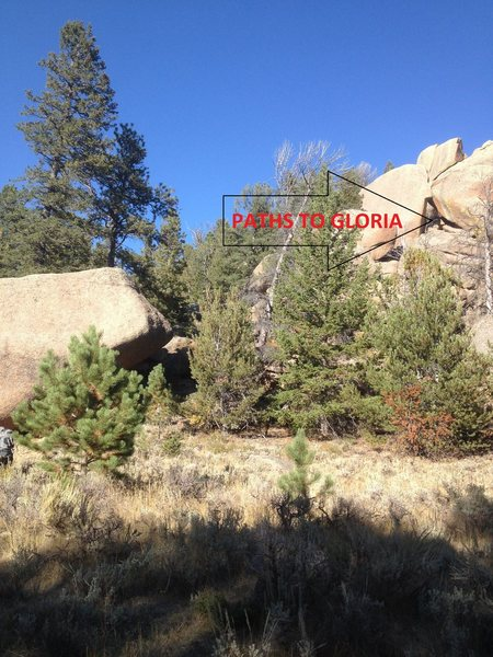 Rock Climbing Photo: The boulders that make up this problem are often p...
