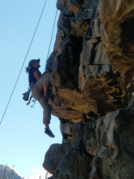 Rock Climbing Photo: Getting over that roof