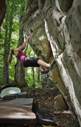 Rock Climbing Photo: Sarene Cullen on Boogie Woogie