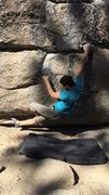 Rock Climbing Photo: Bert with some fancy footwork after hitting the so...