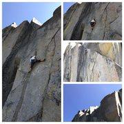 Rock Climbing Photo: Andy finishing Space Truckin.