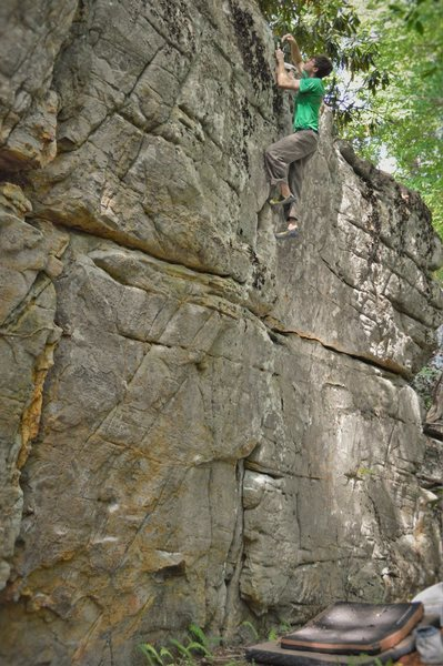 Christian Backman at the top of Redemption Crack