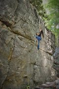 Rock Climbing Photo: Sierra jamming the top of Redemption Crack