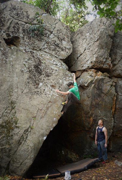 """Rock Climbing Photo: Christian Backman full force on """"Allegory of ..."""