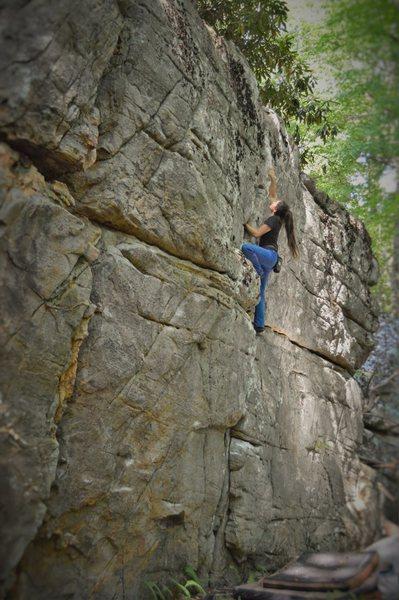Sierra flowing through Redemption Crack