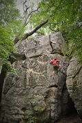 """Rock Climbing Photo: Jeremy Parnell questing up """"Lonesome Dove&quo..."""