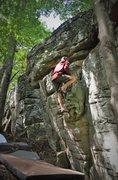 "Rock Climbing Photo: J-Wayne feeling the friction on ""Boogie-Woogi..."