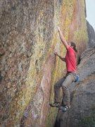Rock Climbing Photo: OG takes flight.