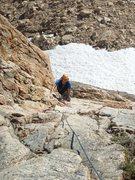 Rock Climbing Photo: Benjamin, following pitch 1