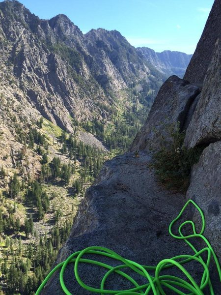 Rock Climbing Photo: Nice perch at the start of the .7 crack.