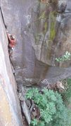 Rock Climbing Photo: Up the off width