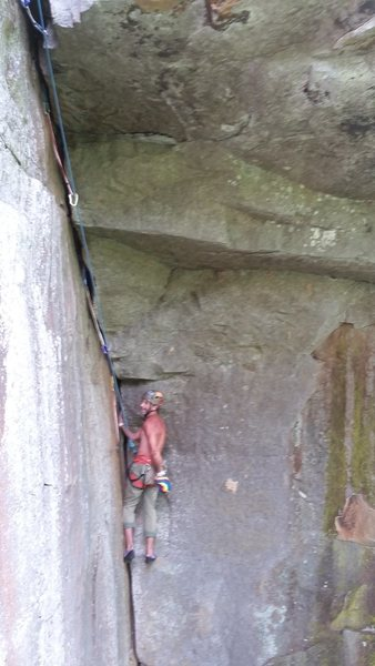 Rock Climbing Photo: Roof #1 time