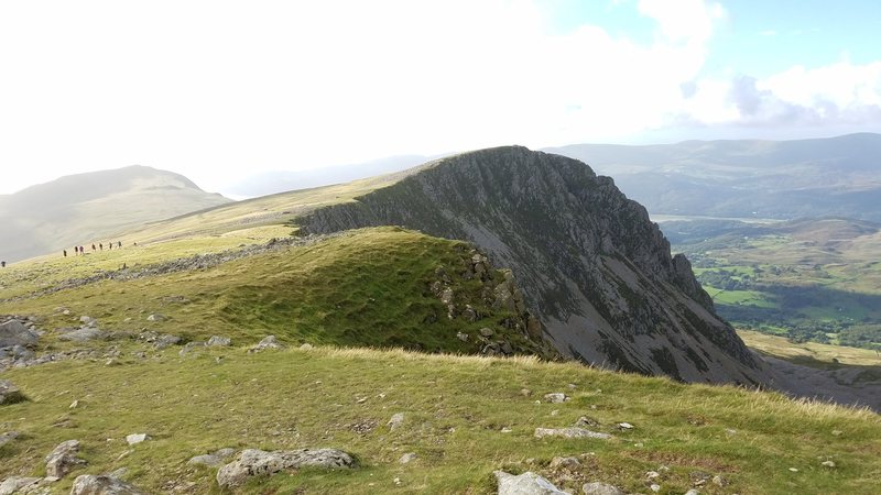 Rock Climbing Photo: Cyfrwy Arete from near the summit of Cadair Idris