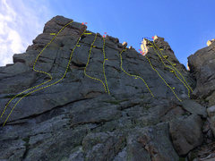 Rock Climbing Photo: A topo overview (zoom in).