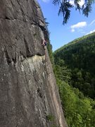 Rock Climbing Photo: High stepping on Blacksmith.