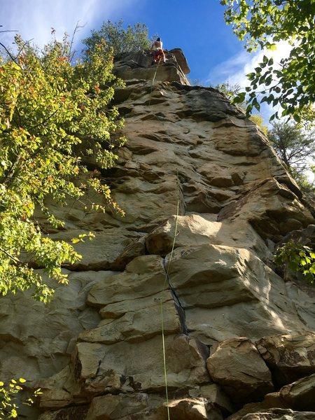 Rock Climbing Photo: Looking up Spawn