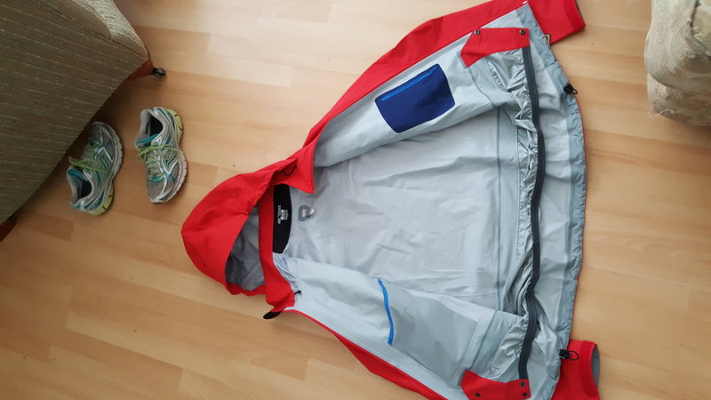 Rock Climbing Photo: Inside the jacket