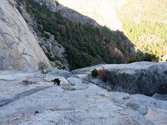 Rock Climbing Photo: East Ledges Descent: Descending the slabs after th...