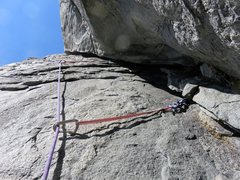 Rock Climbing Photo: Pitch 9. We chose to traverse left to a 5.9 face o...