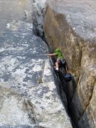 Rock Climbing Photo: Pitch 1: Chimney.
