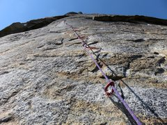Rock Climbing Photo: Pitch 5. This is the crux pitch of the route, face...