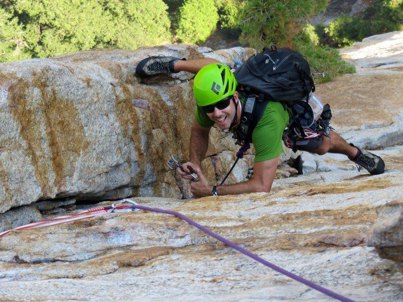 Rock Climbing Photo: Pitch 7: Fun 5.7 corner climbing.
