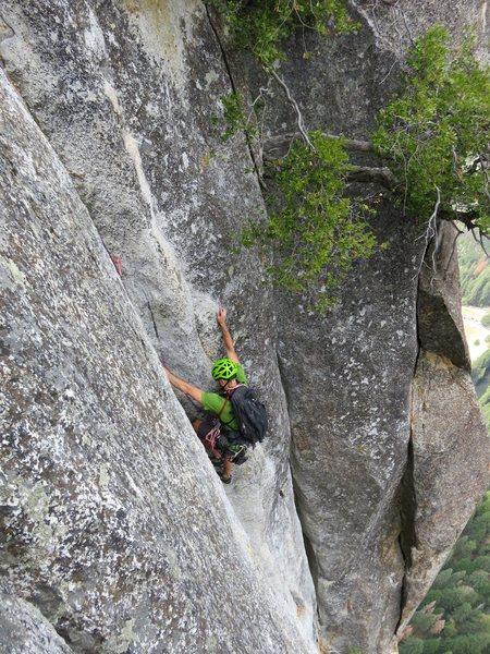 Rock Climbing Photo: Pitch 10. Steep groove.