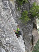 Rock Climbing Photo: Pitch 10. Steep groove.