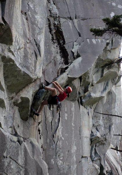 Rock Climbing Photo: Mantle crux of P1