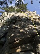 Rock Climbing Photo: Entering the unknown on marginal gear placements!