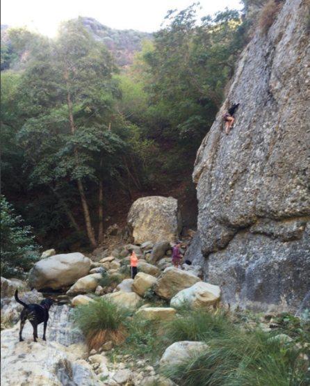 Jamie on Cobble Climb