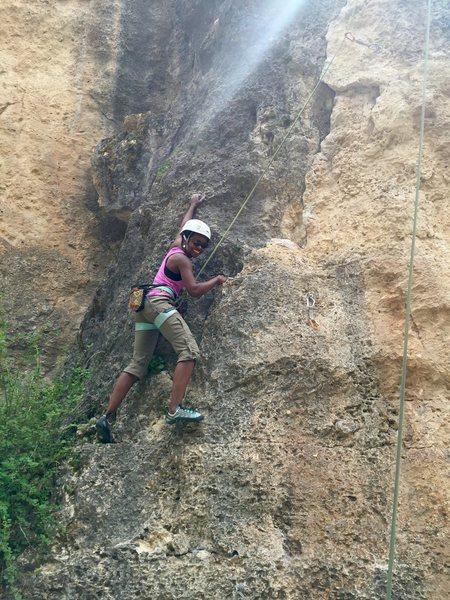 Rock Climbing Photo: Enjoying the large jugs