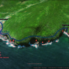 Deadmans Bay ice climbing locations.