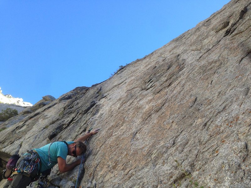 This 6 pitch route begins with a boulder problem. . . Prepare to get stumped.