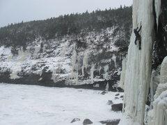 "Rock Climbing Photo: Climbing ""The Reaper"" in Deadmans Bay on..."