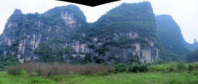 Only the rightmost portion of this cliff has been developed