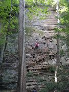 Rock Climbing Photo: 20160903 - Sydney Bock, first outdoor climb ever