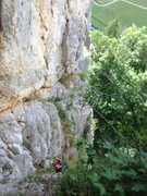 Rock Climbing Photo: This is the 1 rap variant which you reach by follo...