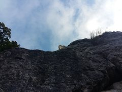 Rock Climbing Photo: Your view from the base. When the clouds move, you...