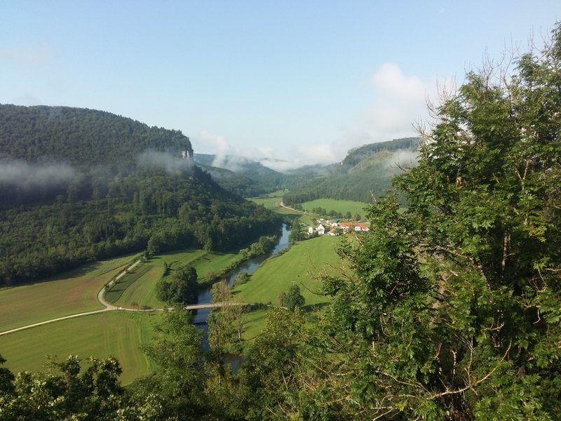 A wonderful view from the climb of the upper Danube valley