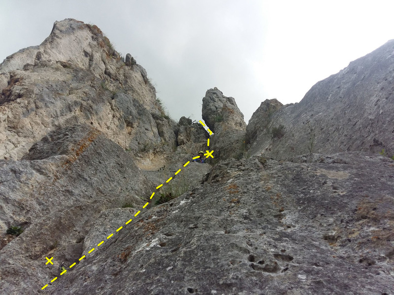 View from the belay of the 3rd pitch.