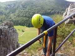 Rock Climbing Photo: The fence at the top of the crag. It's solid. ...
