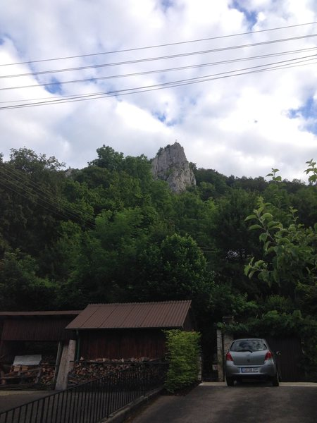 A view of Stuhlfels from the parking area