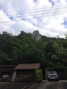 Rock Climbing Photo: A view of Stuhlfels from the parking area