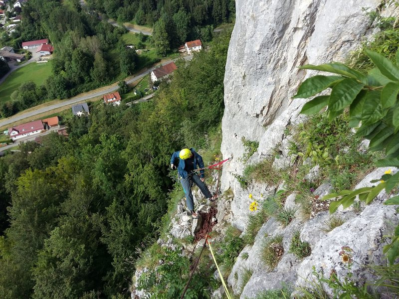 Rock Climbing Photo: First belay station at Irisweg, which is also s ha...