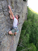 Rock Climbing Photo: Just past the crux on Run Higher Jump Faster.