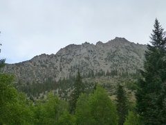 Rock Climbing Photo: Independence Peak from the campground at the end o...